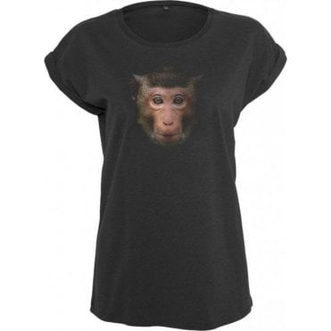 Faded Monkey Womens Extended Shoulder T-Shirt