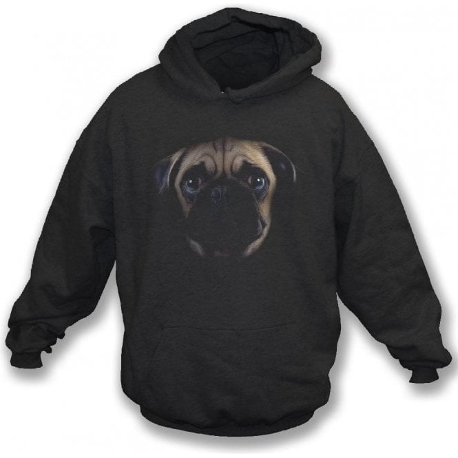Faded Pug Kids Hooded Sweatshirt