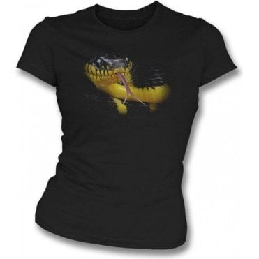 Faded Snake Womens Slim Fit T-Shirt