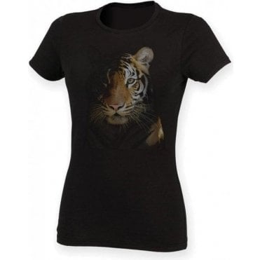 Faded Tiger Womens Slim Fit T-Shirt