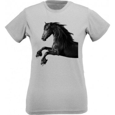 Galloping Horse Womens Slim Fit T-Shirt