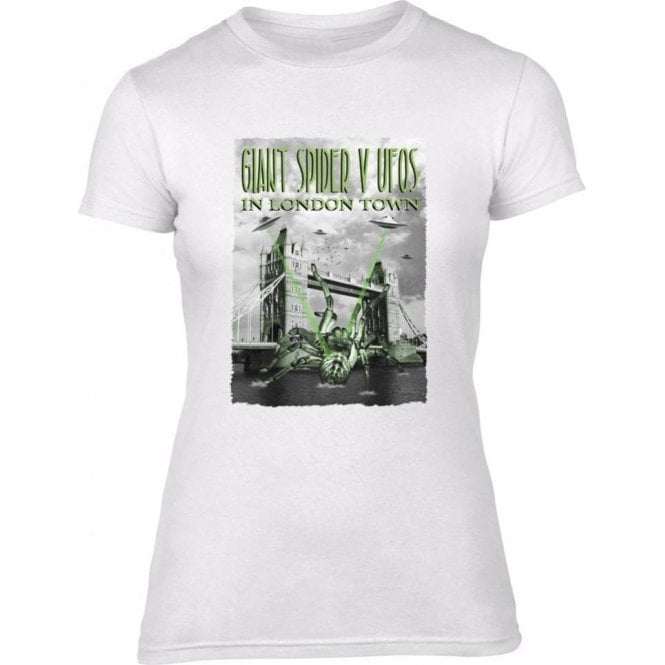 Giant Spider vs. UFOs Women's Slim Fit T-Shirt