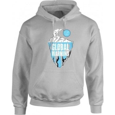 Global Warming Polar Bear Hooded Sweatshirt