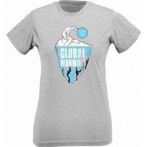 Global Warming Polar Bear Womens Slim Fit T-Shirt