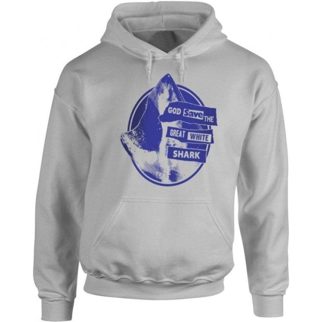 God Save The Great White Shark Hooded Sweatshirt