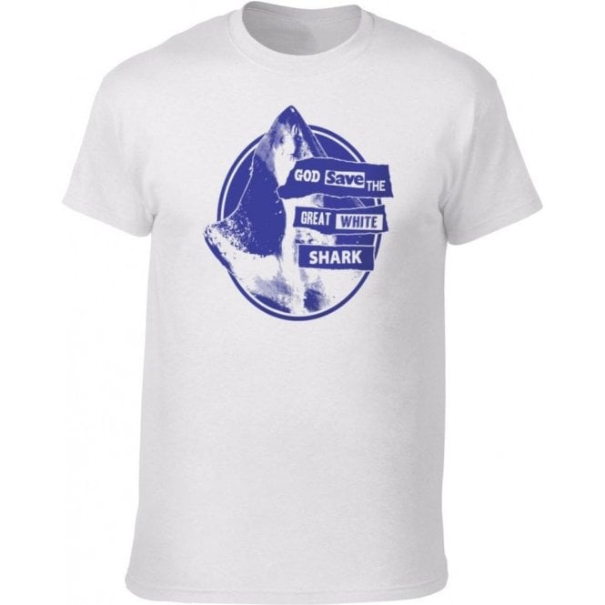 God Save The Great White Shark Kids T-Shirt