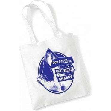God Save The Great White Shark Long Handled Tote Bag