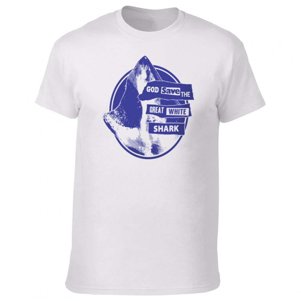 God Save The Great White Shark T Shirt From Animals Yeah