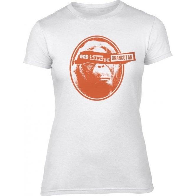 God Save The Orangutan Womens Slim Fit T-Shirt