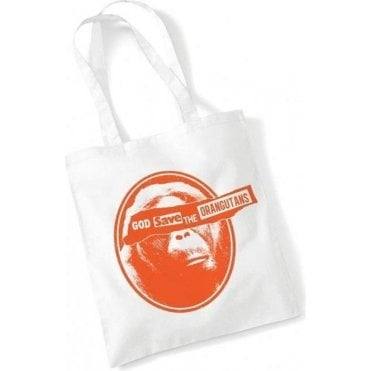 God Save The Orangutans Long Handled Tote Bag