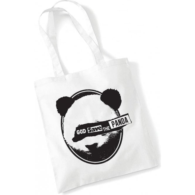 God Save The Panda Long Handled Tote Bag