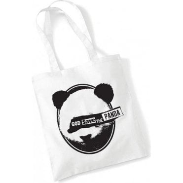 God Save The Panda Long Handled Tote Bag