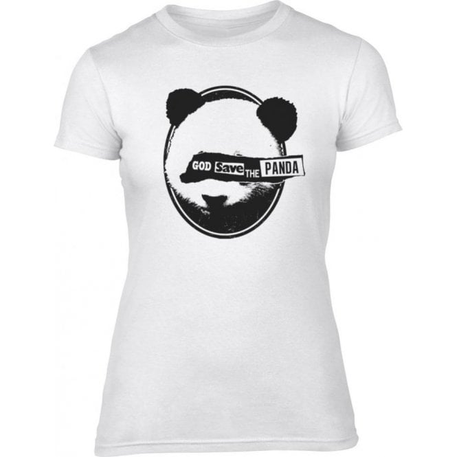 God Save The Panda Womens Slim Fit T-Shirt