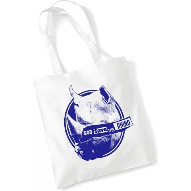 God Save The Rhino Long Handled Tote Bag