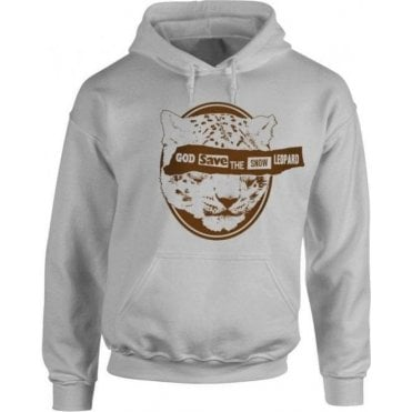 God Save The Snow Leopard Kids Hooded Sweatshirt