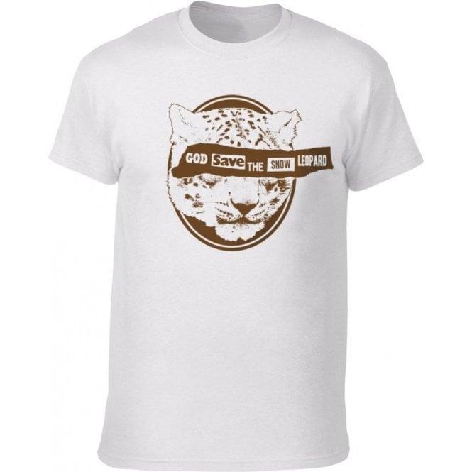 God Save The Snow Leopard Kids T-Shirt