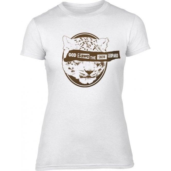 God Save The Snow Leopard Womens Slim Fit T-Shirt