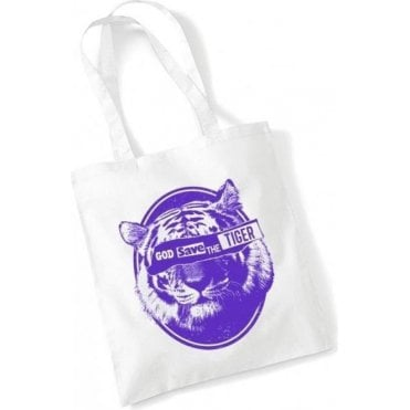 God Save The Tiger Long Handled Tote Bag