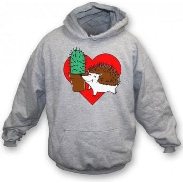 Hedgehog Cactus Kids Hooded Sweatshirt