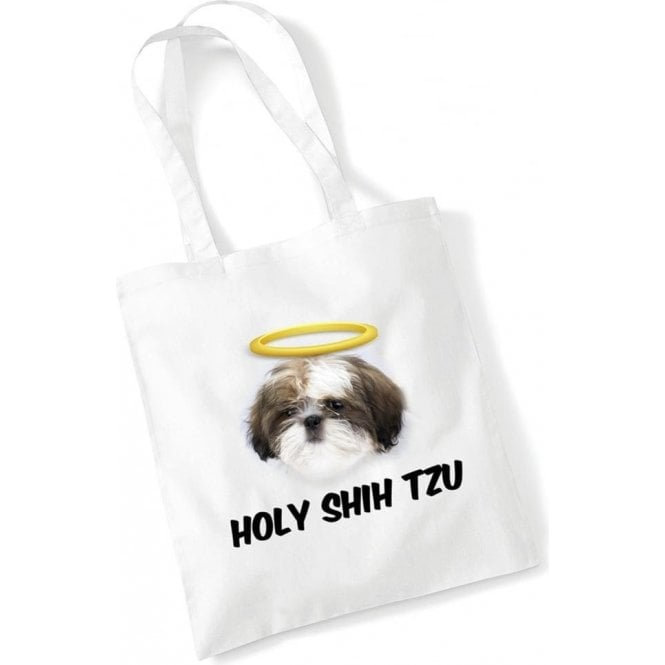 Holy Shih Tzu Long Handled Tote Bag