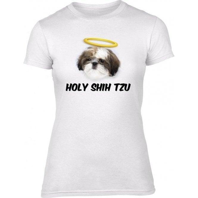 Holy Shih Tzu Womens Slim Fit T-Shirt