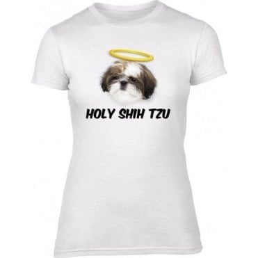 Holy Shih Tzu Womens Slim Fit T-Shirt