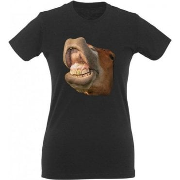 Horse Head Womens Slim Fit T-Shirt