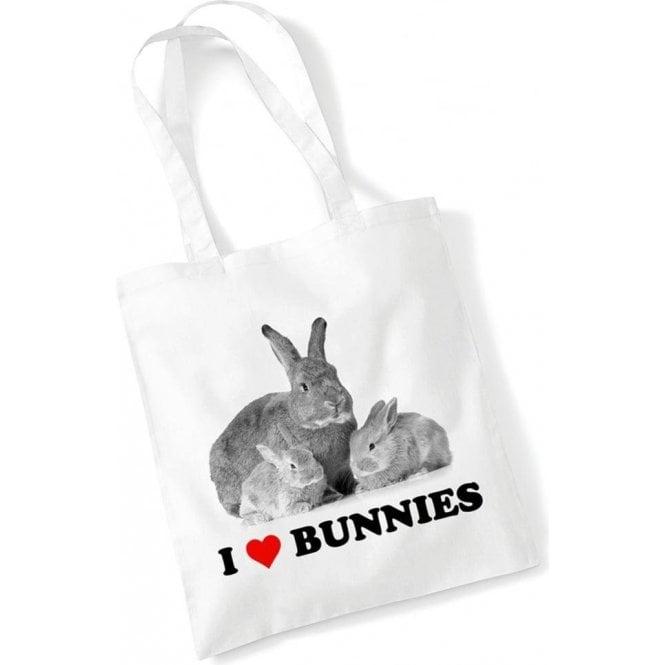 I Heart Bunnies Long Handled Tote Bag