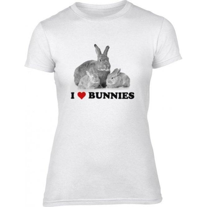 I Heart Bunnies Women's Slim Fit T-Shirt