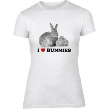 I Heart Bunnies Women's Slim Fit T-Shirt