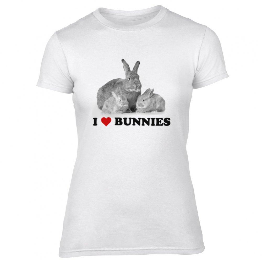 19cc96276 I Heart Bunnies Women's Slim Fit T-Shirt - from Animals Yeah Yeah UK