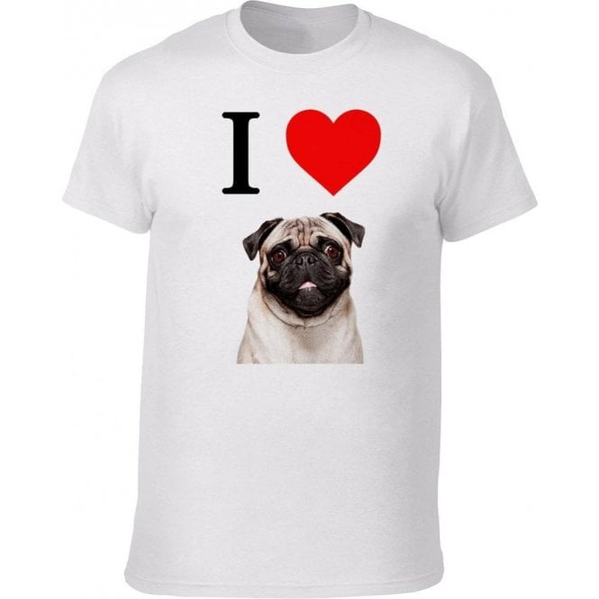 I Heart Pugs Kids T-Shirt