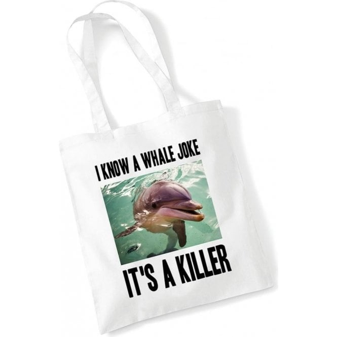 I Know A Whale Joke Long Handled Tote Bag