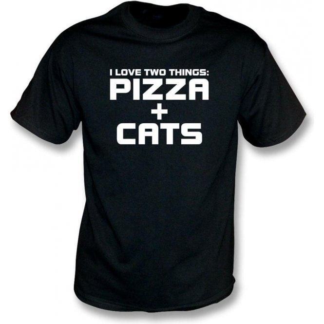 I Love Two Things: Pizzas & Cats Kids T-Shirt