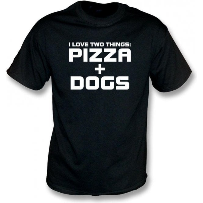 I Love Two Things: Pizzas & Dogs Kids T-Shirt