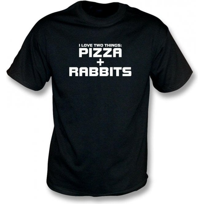I Love Two Things: Pizzas & Rabbits Kids T-Shirt