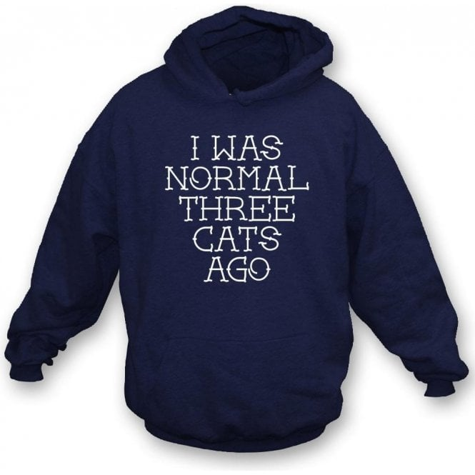 I Was Normal Three Cats Ago Hooded Sweatshirt