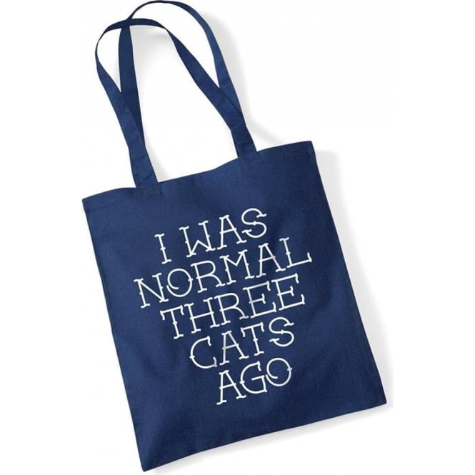 I Was Normal Three Cats Ago Long Handled Tote Bag