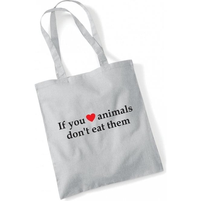 If You Heart Animals, Don't Eat Them Long Handled Tote Bag