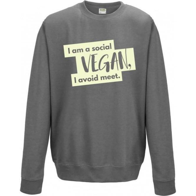 I'm A Social Vegan Sweatshirt