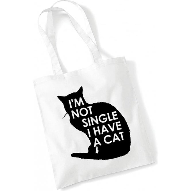 I'm Not Single, I Have A Cat Long Handled Tote Bag