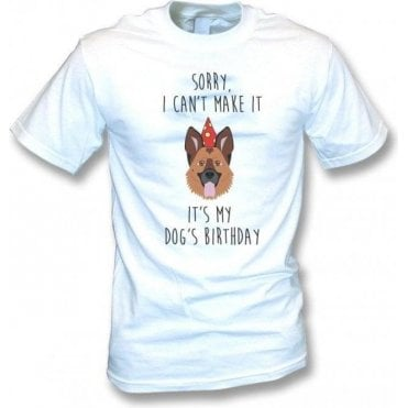 It's My Dog's Birthday (Alsatian) T-Shirt