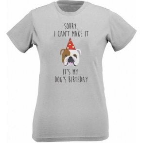 It's My Dog's Birthday (Bulldog) Womens Slim Fit T-Shirt
