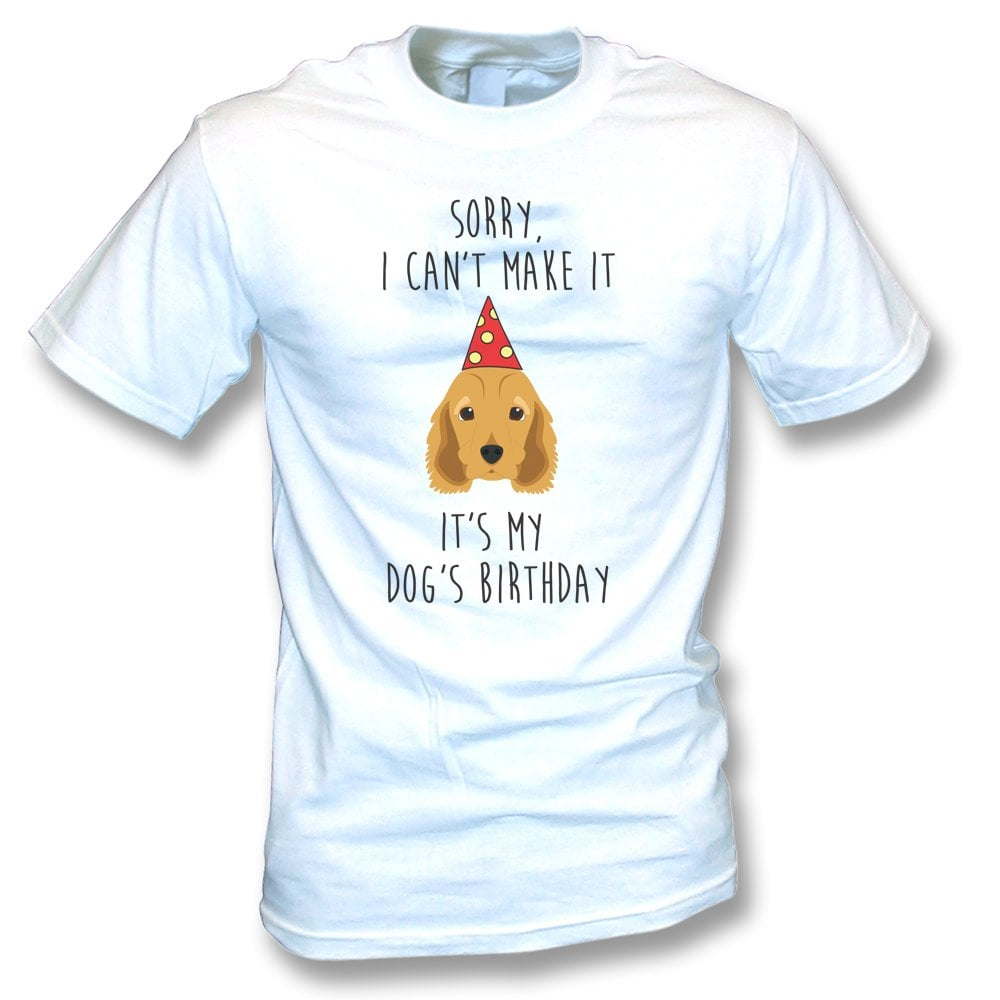 Its My Dogs Birthday Spaniel Kids T Shirt