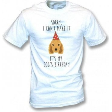 It's My Dog's Birthday (Spaniel) T-Shirt