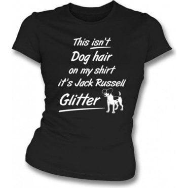 Jack Russell Glitter Womens Slim Fit T-Shirt