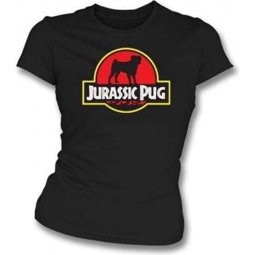Jurassic Pug Womens Slim Fit T-Shirt