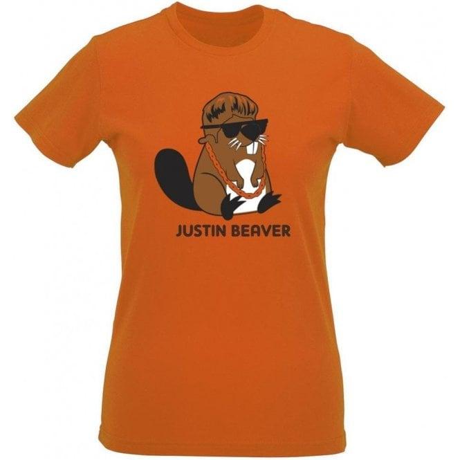 Justin Beaver Women's Slim Fit T-Shirt