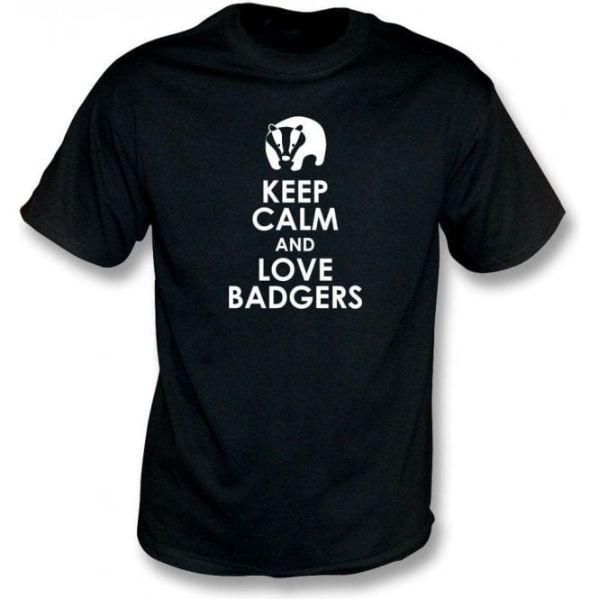 Keep Calm And Love Badgers Kids T-Shirt