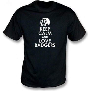 Keep Calm And Love Badgers T-Shirt